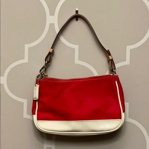Coach bag Red and beige tan bag